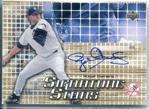 2004 Upper Deck Signature Stars Gold #RC Roger Clemens EX...