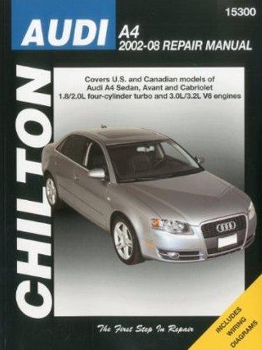 Amazon Audi A4 Avant Cabriolet Chilton Repair Manual 2002