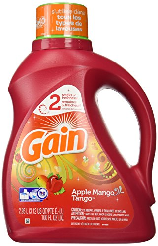 (Gain Joyful Expressions 2X Liquid Detergent-Apple Mango Tango-100 oz, 48 Loads)