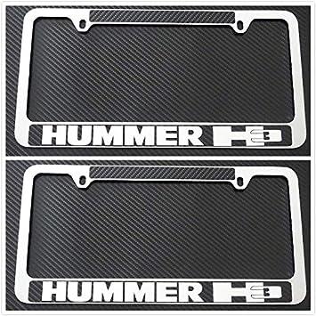 Tuesnut 2X Stainless Steel 4 Runner Black License Plate Frame Covers Holder Screws Caps Rust Free