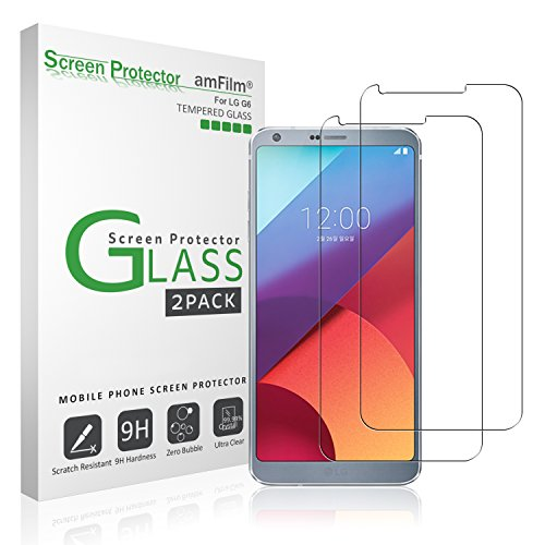 LG G6 Screen Protector Glass, amFilm Tempered...