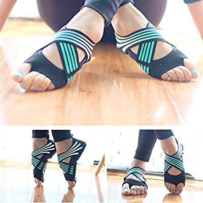 LeKing Zapatos de Yoga para Mujeres, Zapatos de Yoga de Fondo Blando, Zapatos de Yoga Profesionales Antideslizantes con Cinco Dedos,Calcetines ...