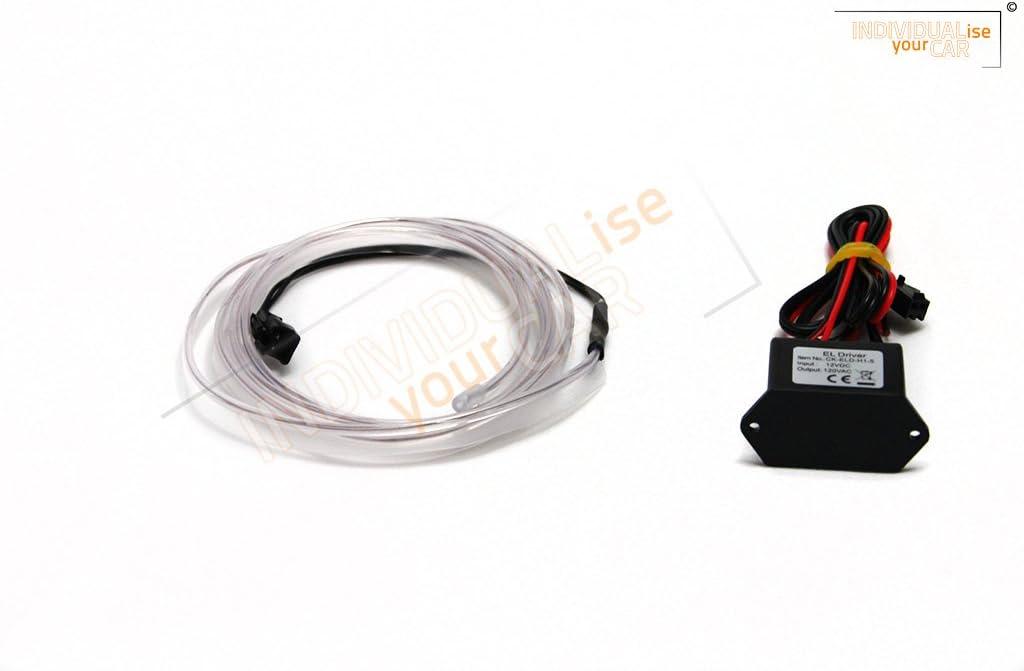 2m und 3m 2m, Lila Universal EL Ambiente Lichtleiste Ambientebeleuchtung Innenraumbeleuchtung in 1m