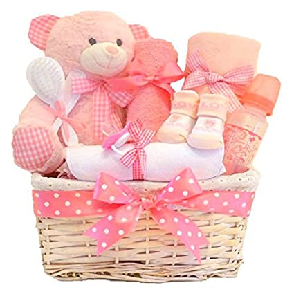 Cesta de regalo para bebé, cesta de bebé, regalo de baby shower, regalo