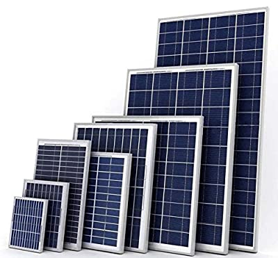 Xbubble Polycrystalline Photovoltaic PV Solar Panel Module for 12V Battery Charging, 125W