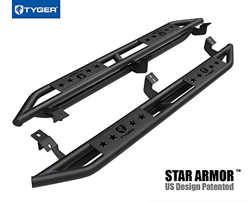 Tyger Auto TG-AM2T20188 Star Armor Kit for 2005-2018 Toyota Tacoma Access Cab | Textured Black | Side Step Rails | Nerf Bars | Running Boards (Bar Nerf Step Cab Access)