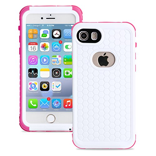 - toyeahcase Waterproof Case for iphone 7 2016/iphone 8 2017, untra thin, shock proof, (version: 4.7 inches) Merit IP68 Standard Protection Dirt-poof Snow-proof and Waterproof Case (Pink)