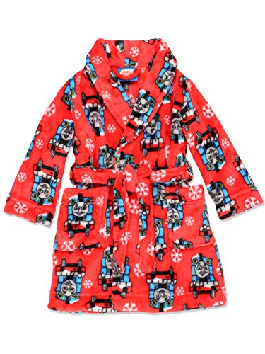 Apparel Train (Thomas The Train Friends Toddler Boys Fleece Bathrobe Robe (2T, Red))