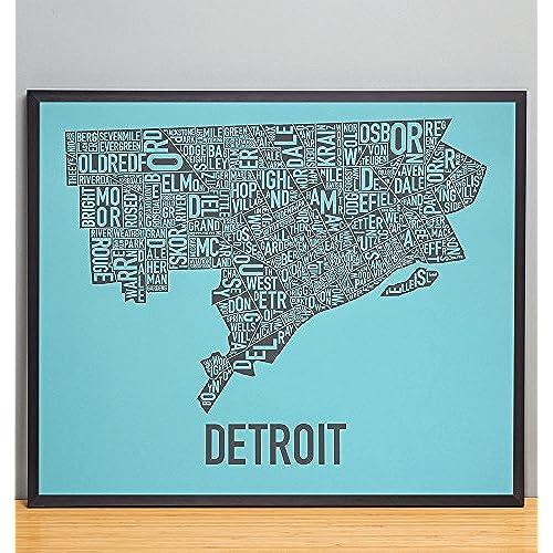 Map of Detroit Amazoncom
