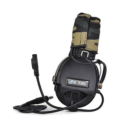 Disparos oído Defensor Orejeras Caza Auriculares tácticos cancelación de Ruido Militar Camuflaje Auriculares OTAN Enchufe