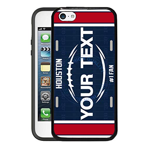 BRGiftShop Customize Your Own Football Team Houston Rubber Phone Case for Apple iPod Touch 5th & 6th Generation