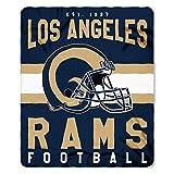 rams football - NFL Los Angeles Rams Singular 50-inch by 60-inch Printed Fleece Throw