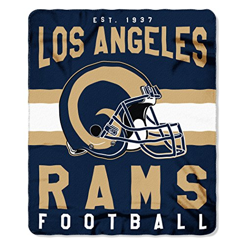 The Northwest Company NFL Los Angeles Rams Singular 50-inch by 60-inch Printed Fleece Throw