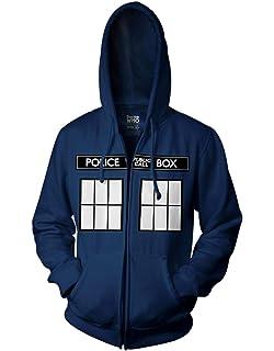 PONGONE Doctor Who Thick Hoodie Cosplay Warm Velvet Jacket Zip Up Fleece Sweatshirt