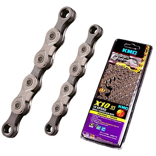 KMC X10.93 ,10 Speed Chain for Trekking Half Nickel Plated 116 Link Original