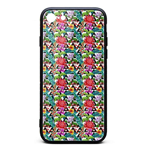 (iPhone 8 Case iPhone 7 Case Seamless Pattern with Thailand Flower Tropical Vector Pretty Anti-Scratch TPU Soft Rubber Silicone Cover Phone Case Compatible with iPhone 7 iPhone 8)