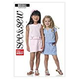 Butterick Patterns B5591 Children's Top and Skorts, All Sizes