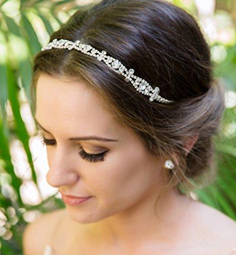 Art Deco Crystal Bridal and Wedding Headband (Silver)