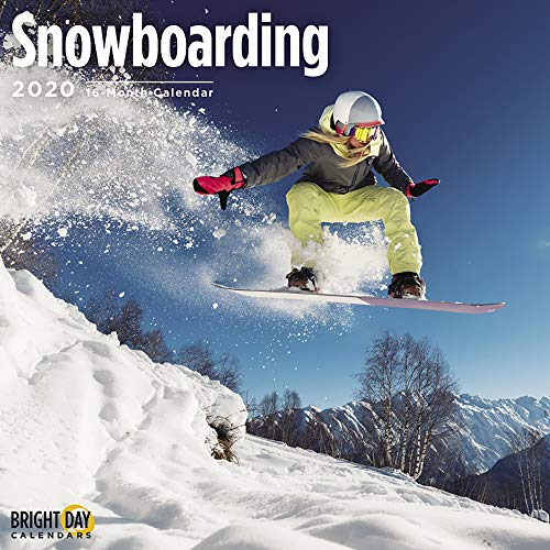 Hobbies Wall Calendars by Bright Day Calendars 16 Month Wall Calendars 12 x 12 Inches (Snowboarding 2020) (The Best Snowboard 2019)