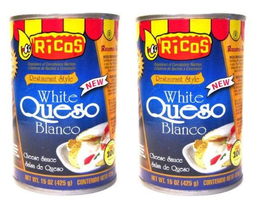 (Ricos White Queso Blanco Restaurant Style Cheese Sauce (15 oz Cans) 2 Pack)