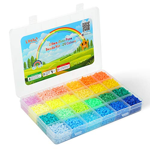 Mini fuse Beads 2.6mm 24 colores total 12000 unidades frios