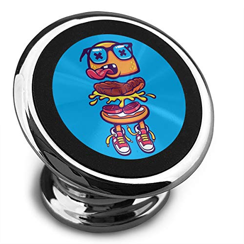 FISHISOK Magnetic Car Phone Mount Holder Funny Hamburger Deluxe Car Mobile Bracket 360 Degrees Rotation from Dashboard Compatible with iPhone -