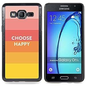 """Qstar Arte & diseño plástico duro Fundas Cover Cubre Hard Case Cover para Samsung Galaxy On5 O5 (Elección feliz Cita de motivación positiva Vida"""")"""