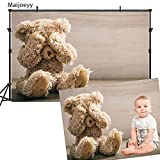 Maijoeyy 7x5ft Children Baby Newborn Backdrop Photography Backdrops Teddy Bear Backdrop for Studio Prop Photo Background Photography Props 715171912