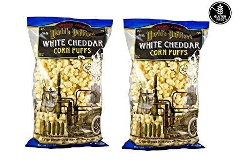 Trader Joe's World's Puffiest White Cheddar Corn Puffs: 2 Pack - 7 oz (198g) ()
