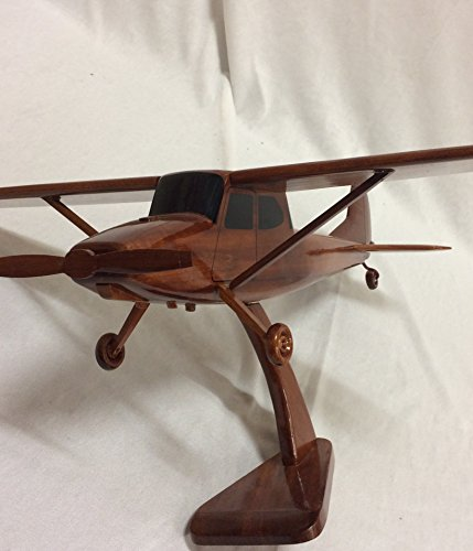 Bird Cessna Dog (Cessna bird dog Replica Airplane Model Hand Crafted with real Mahogany wood)