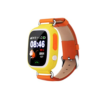Global Positioning Touch Color Screen GPS Childrens Smart Watch WiFi Children Positioning Watch (Orange)