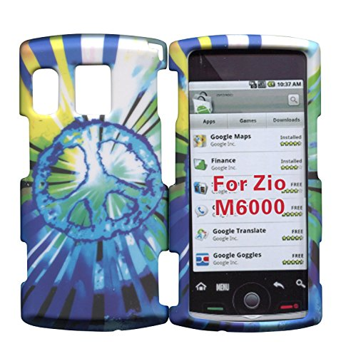 Sanyo Hard Faceplates - Blue Peace Sanyo Zio by Kyocera M6000 Cricket Case Cover Hard Phone Case Snap-on Cover Rubberized Touch Faceplates