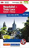 Neuchâtel, Trois Lacs: Velokarte Nr. 8, Massstab 1:60 000, waterproof, Free Map on Smartphone included (Kümmerly+Frey Velokarten)