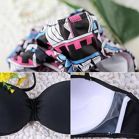 Bluelans/® Womens Retro Floral High Waisted Bikinis Sets Halter Bikini Swimwear Swimsuit
