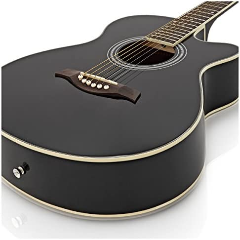 Pack de Guitarra Acustica Single Cutaway de Gear4music - Negro ...