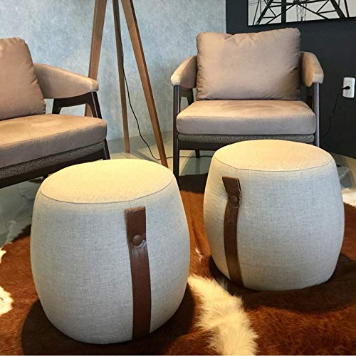 YXLchairs Footstool and Pouffes,Foot Stools,Ottoman Pouffe Chair Stool Fabric Cover,Creative Stool