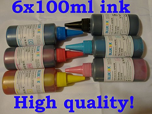 (600 ml (20 oz) inkrefillable Brand UV Resistant Bulk Ink Specially formulated for Epson 78 77 79 82 98 99 Cis/ciss or Refillable Ink Cartridges in Epson Printers: Artisan 50 600 700 710 725 730 800 810 835 837 Stylus Photo: R260, R280, R380, RX580, RX595, RX680 - Not Universal Ink!)