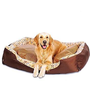 STAZSX Peluche canino Lavable Pelo Dorado Pomerania Cama de Perro Pequeño Perro de Tamaño Mediano Almohadilla para Mascotas Cuatro Temporadas Estera ...