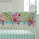 Carousel Designs Kumari Garden Crib Rail Cover