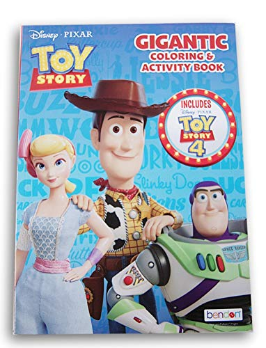 Toy Story 4 Gigantic 224 Page Coloring Book - 7.75 x 10.75 Inches (Story Toy Color Books)