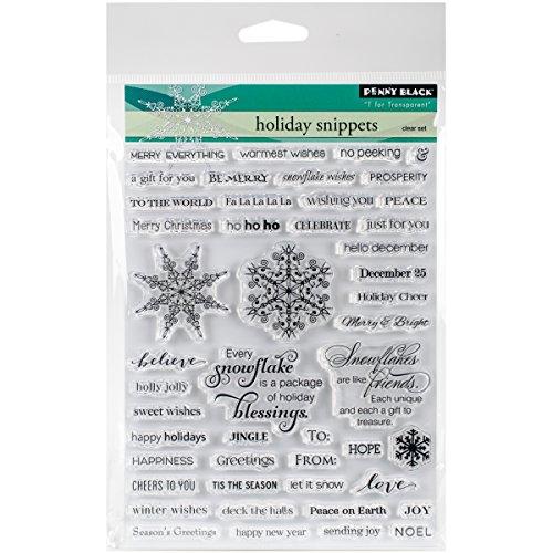 Penny Black 30-307 Holiday Snippets Transparent Decorative Rubber Stamp Set ()