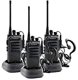 Winmoom Walkie Talkies Long Range Rechargeable Two-Way Radios Earpiece 3 Pack UHF 400-480Mhz Li-ion Battery Charger Included …