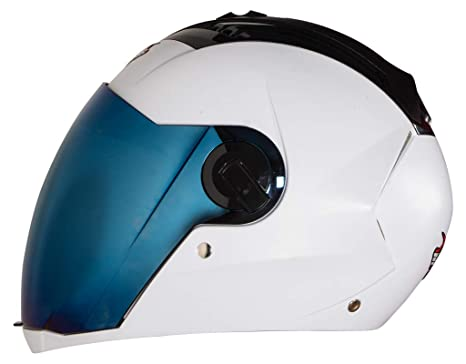 33ab5fbe Steelbird SBA-2 Dashing 7WINGS Full Face Helmet with Tinted Chrome Visor  (580 MM, White): Amazon.in: Car & Motorbike