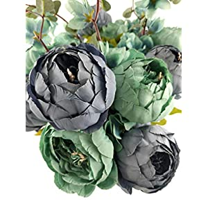 Fupot Artificial Vintage Peony, Silk Flower Bouquet, Wedding, Home Decoration, Pack of 1 2