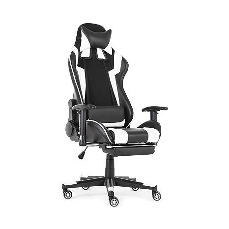 Amazon.com: KingSo silla de juegos de carreras, silla de ...
