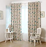 AiFish 1 Panel Kids Curtain 84 inch Long Cartoon Animal Pattern Printed Curtain Panel Room Darkening Thermal Insulated Window Treatment Panel Drapes Metal Grommet Top for Kids Room 39x84 inch