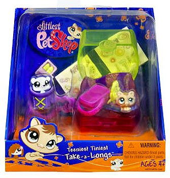 Littlest Pet Shop Teeniest Tiniest Take-A-Longs Mini Figure Cat (Littlest Pet Shop Mini Figures)