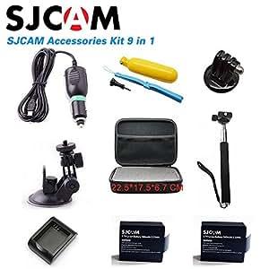 ARBUYSHOP Sj4000 Accesorios caja de recogida + Monopod + trípode + Bobber Flotante para sjcam sj4000 sj5000 wifi además de la cámara del deporte SJ6000 EVA