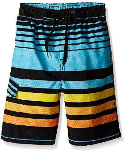 Kanu Surf Boys' Little Quick Dry UPF 50+ Beach Swim Trunk, Echo Aqua, Small (4) Boys Lined Swim Trunk