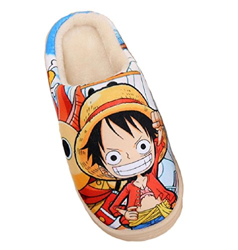 de Bromeo Felpa estar Anime Suave Piece Zapatillas One Zapatos casa Super por OYO6q